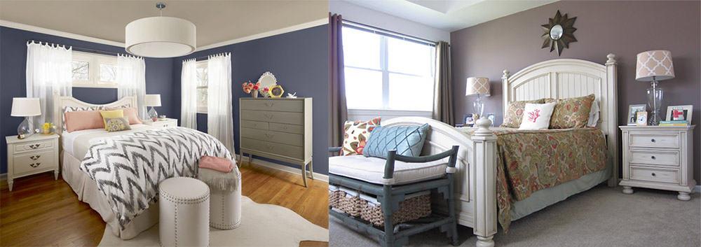 Сложные оттенки серого с синим и розовоым подтоном Дизайн интерьера 2018