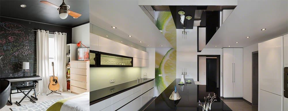 Решения для высокого и низкого потолка натяжные потолки современный потолок 2018