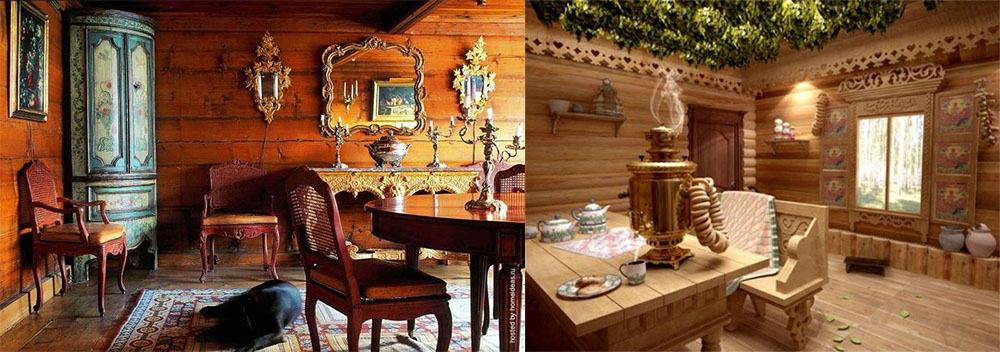 Русский стиль для интерьера современного частного дома современные дома 2018