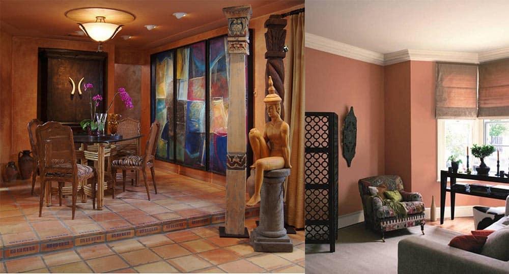 Терракотовые оттенки для различных решений и стилей дизайна квартир интерьеры квартир 2018