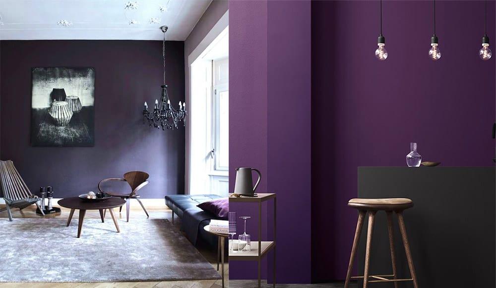 Ультрафиолетовый цвет года от Пантон дизайн интерьера 2018