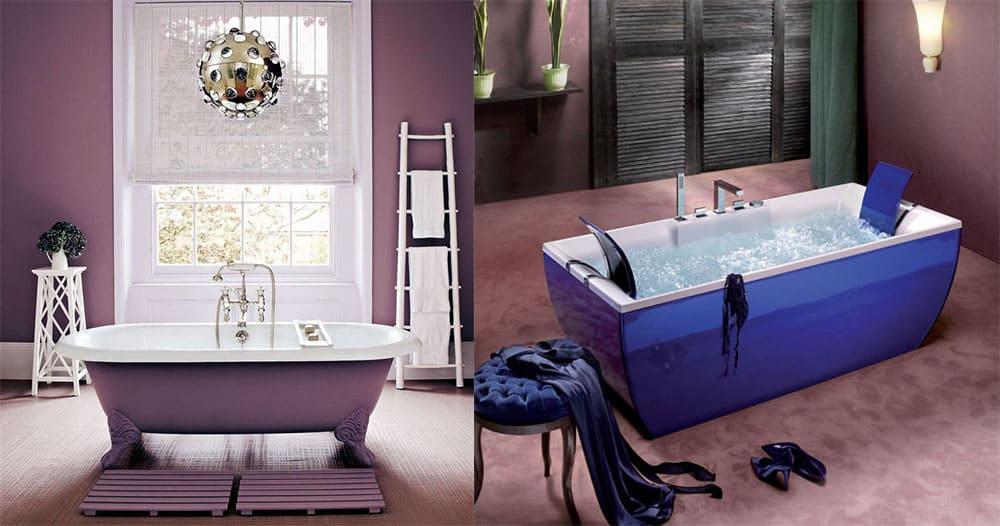 Ультрафиолет цвет года для стильной ванны сочетания с другими цветами интересные варианты и решения Дизайн ванны 2018