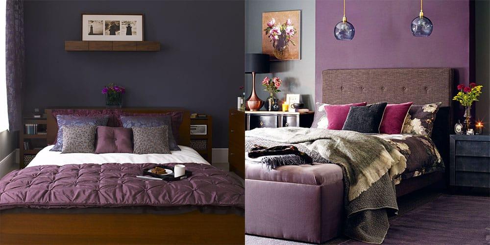 Фиолетово-розовые тона в дизайне спальни самое трендовое решение по Pantone Дизайн спальни 2018