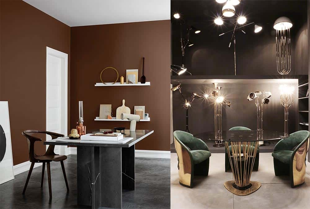 Актуальные формы мебели обтекаемые футуристические контуры дизайн интерьера 2018