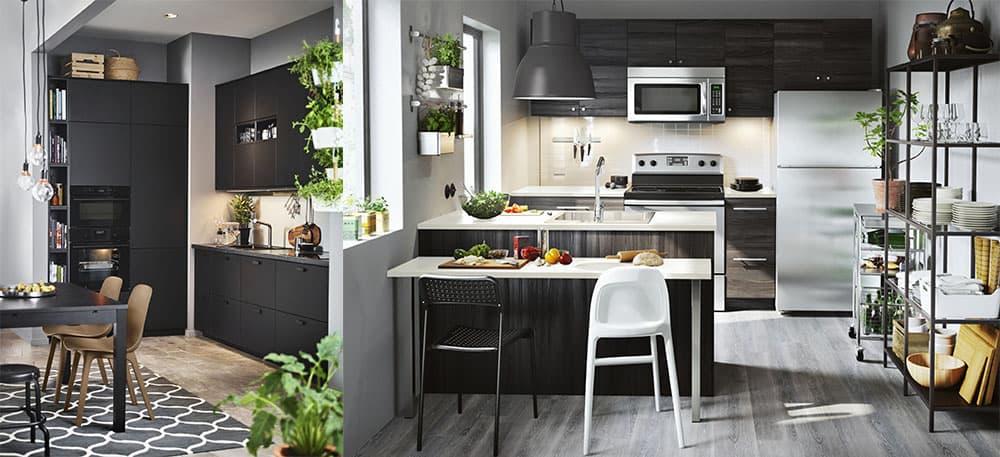 Черный кухонный гарнитур 2018 самое трендовое решение дизайн кухонных гарнитуров 2018