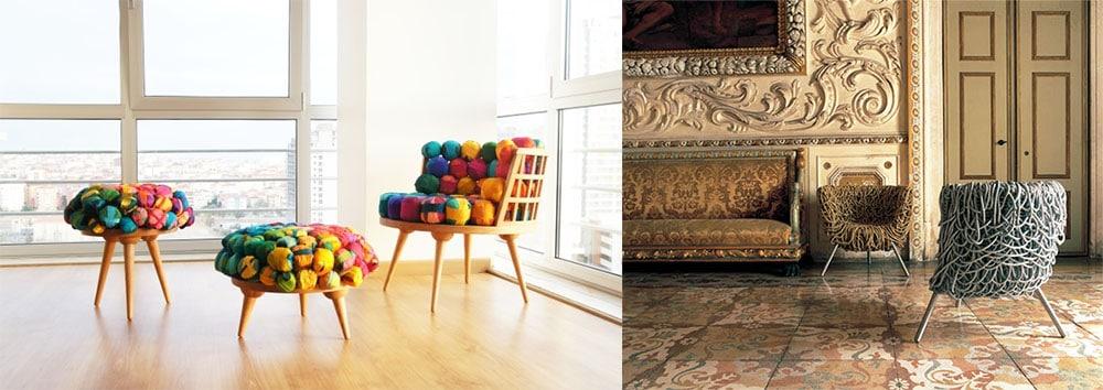 Эко-мебель сделанная из вторсырья супертрндовое решение с любовью к природе интерьеры квартир 2018