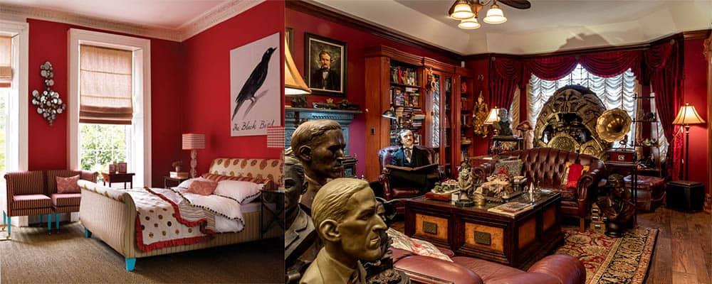 Caliente цвет года по версии Benjamin Moore яркий красный избранный для выставки Гильермо дель Торо Дизайн интерьера 2018