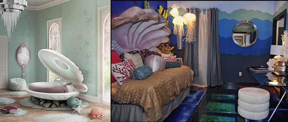 Mermaid style стиль русалки разновидность морского стиля трендовый декор от Circus Дизайн спальни 2018