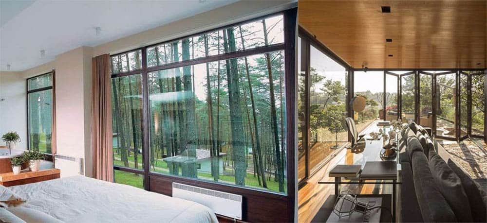Open-space технология для наслаждения видом природы за окном и его интеграции в интерьер Дизайн частного дома 2018