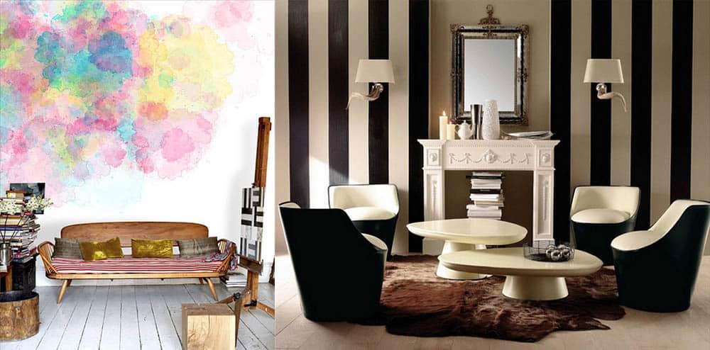 Акварельные и черно-белые обои для оригинального интерьера Дизайн обоев 2018
