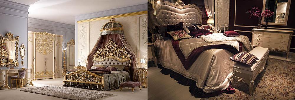 Барочный декор кроватей - супер-тренд 2018 года Кровати 2018