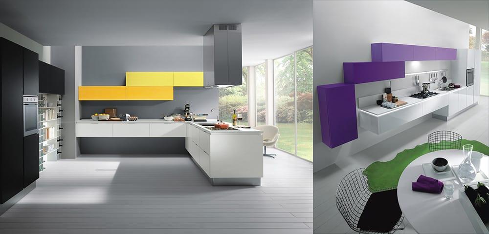 Верхний ярус в форме лесенки интересное нововведение для модульной кухонной мебели Новинки кухонных гарнитуров 2018