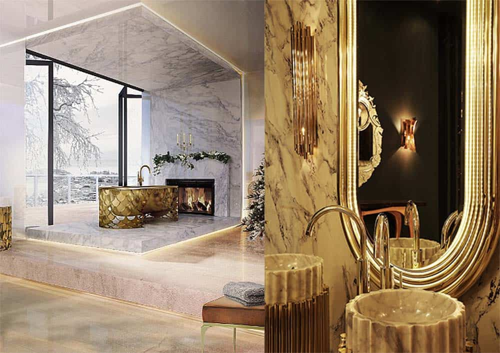 Влияние ар деко на современный дизайн ванных комнат Идеи ванной комнаты 2018