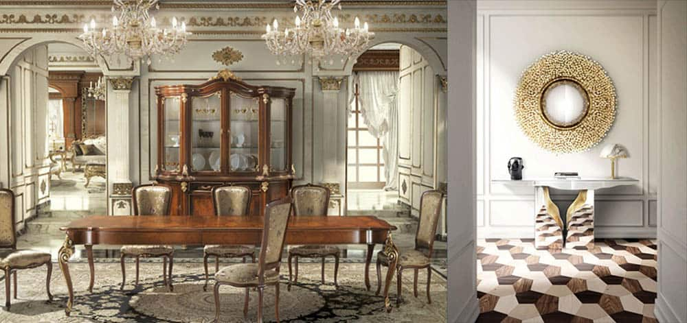 Декоративные плинтусы для комнат в стиле барокко и ар деко Идеи интерьера 2018