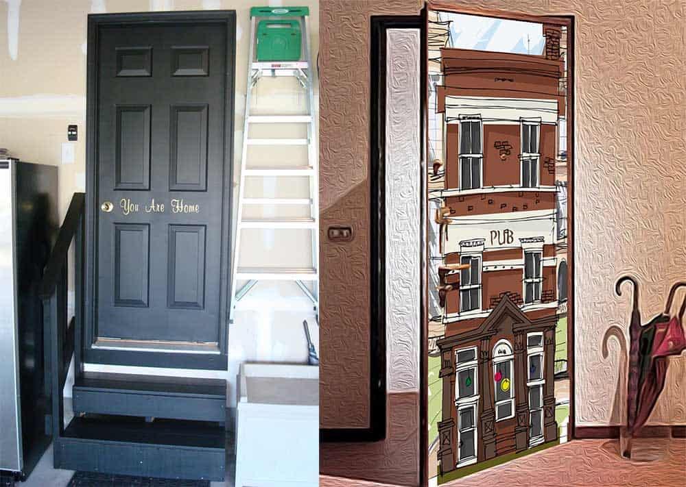 Декор двери как необычная деталь в интерьере прихожей Современные прихожие 2018