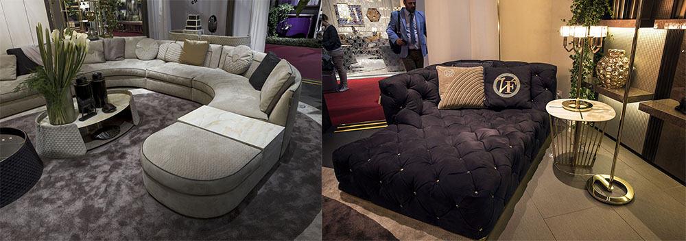 Диван и рекамье, большие предметы мягкой мебели Идеи интерьера гостиной 2018