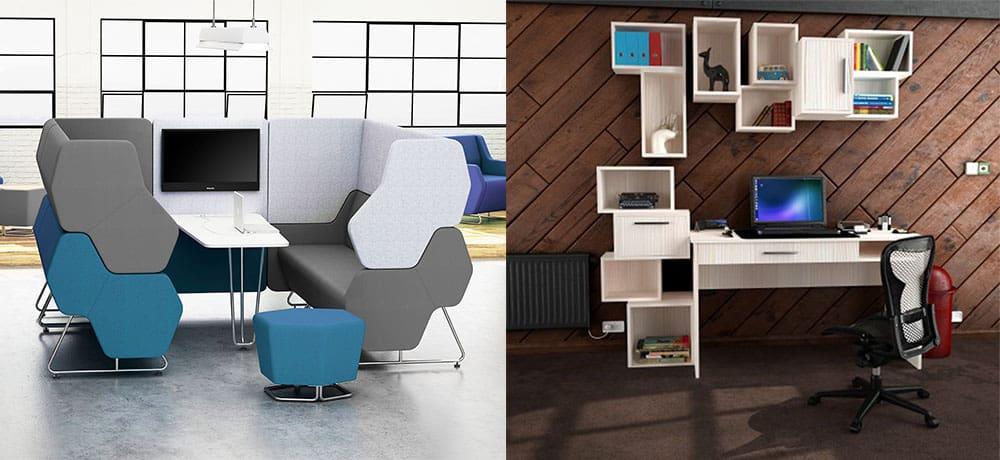 Динамичный кабинет с модульной мебелью новая концепция домашнего кабинета Кабинет 2018