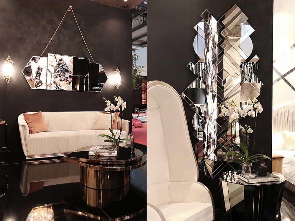 Зеркала необычной формы декоративные зеркала Современные спальни 2018