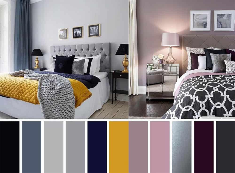 Карта цветов как создать как распределить оттенки Идеи дизайна спальни 2018