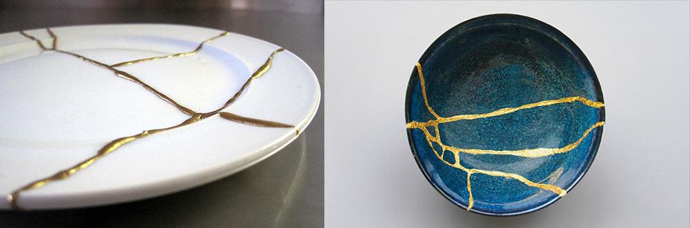 Кинцуги - японское искусство восстановления керамики с помощью лака с частичками золота и своей философией Новейшие тренды и философские концепции, повлиявшие на декор интерьеров Декор 2018