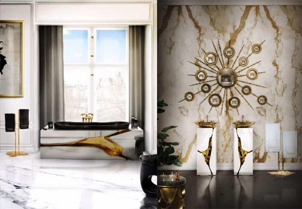 Имитация кинцуги в дизайне сантехники Идеи ванной комнаты 2018
