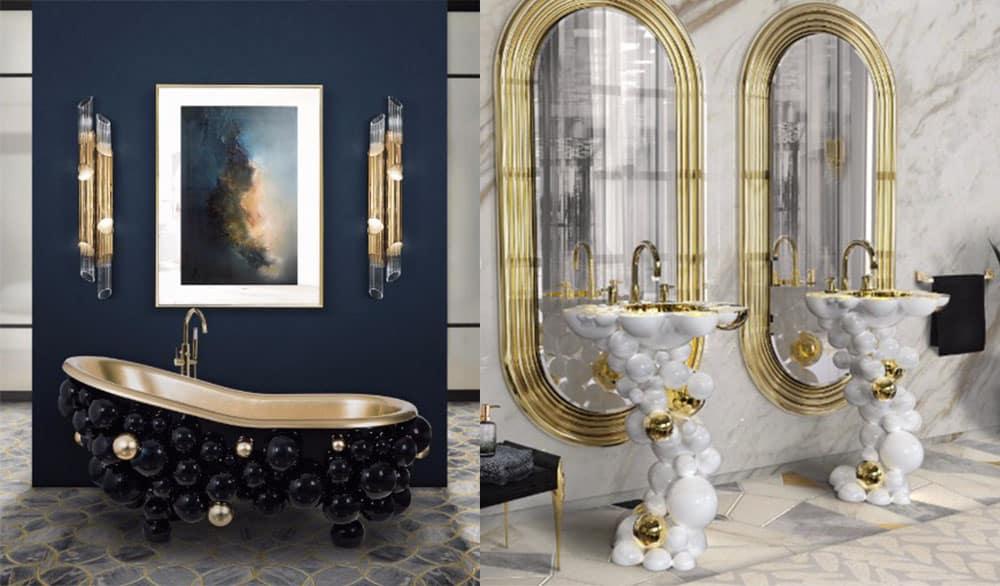 Коллекция Newton с мотивом пузырьков, супер-тренды и мебель Идеи ванной комнаты 2018