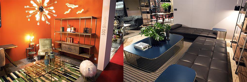 Насыщенные цвета в интерьере гостиной, освещение стен Идеи интерьера гостиной 2018
