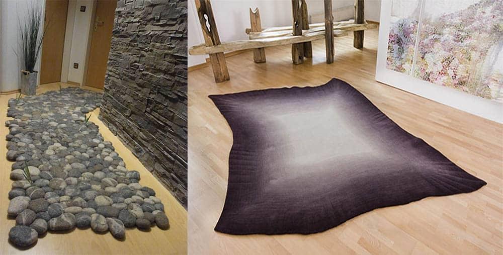 Необычные формы для трендовых ковров, копирование природных форм Ковры 2018