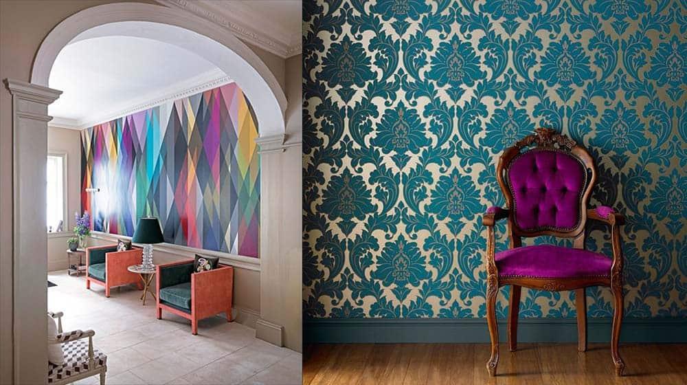 Обои под старину психоделика и барокко Дизайн обоев 2018