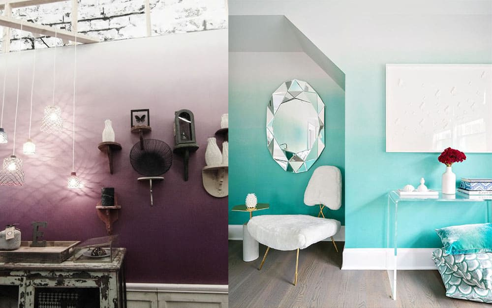 Окрашивание стен в стиле омбре как сделать градиентное окрашивание Ремонт квартиры 2018