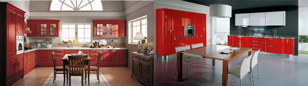 Оттенки красного в дизайне современных кухонь ретро и отголоски кантри в классической кухне Новинки кухонных гарнитуров 2018