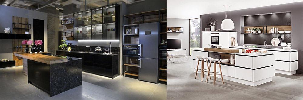 Подсветка полок изнутри интересная и практичная эстетичная идея Новинки кухонных гарнитуров 2018