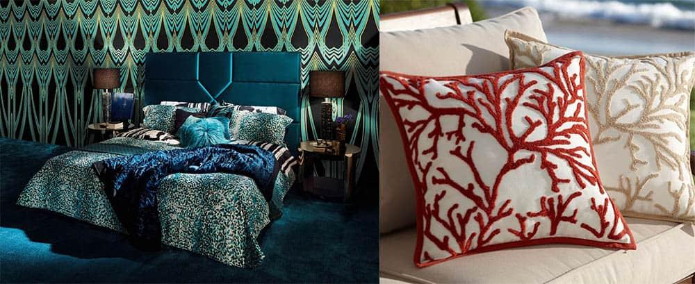 Подушки нескольких цветов и оригинальные вышитые подушки Кровати 2018