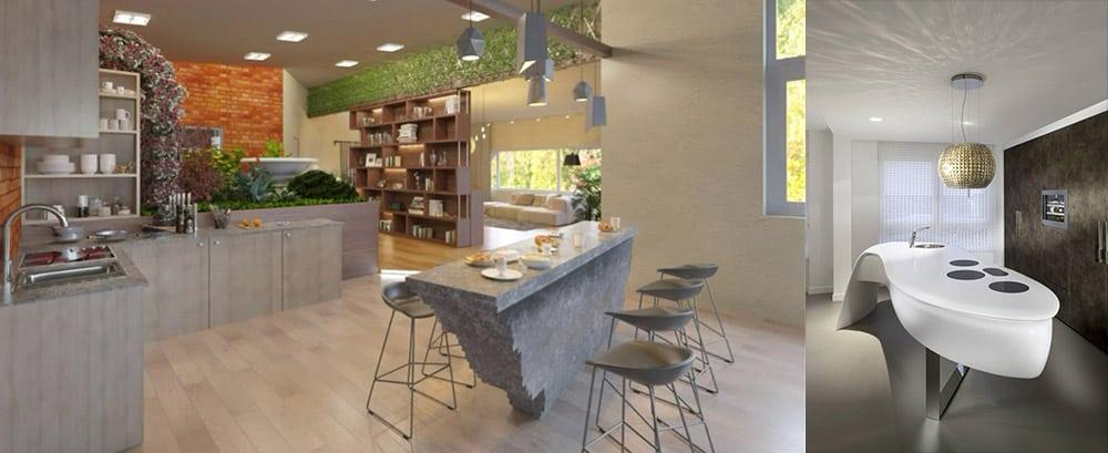 Природные формы воплощенные в кухонной мебели Новинки кухонных гарнитуров 2018