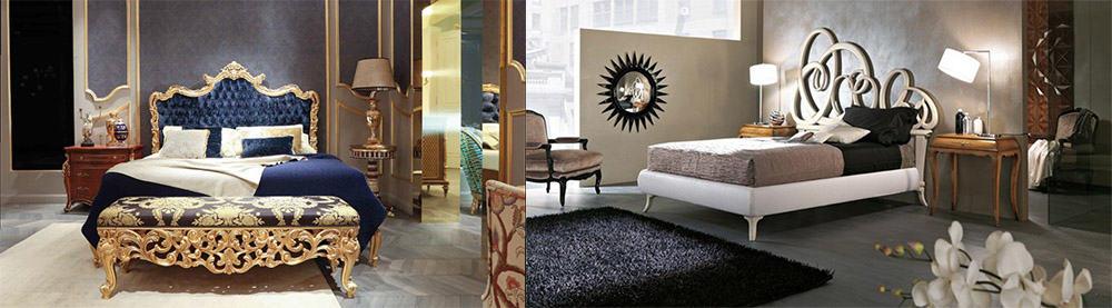 Роскошные изголовья кроватей в стилях барокко и ар деко Современные спальни 2018