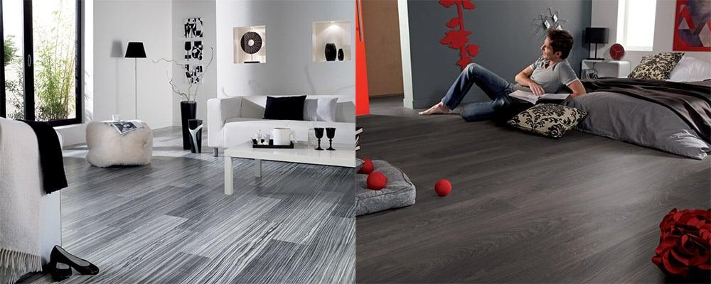 Серый ламинат - функциональный и красивый вариант для самых разных стилей интерьера Ламинат 2018