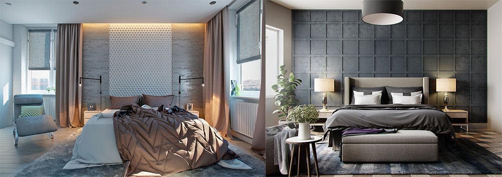 Текстуры в дизайне интерьера спальни Идеи дизайна спальни 2018
