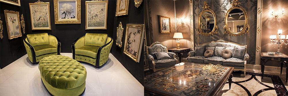 Трендовые стили мебели, мидсенчури, барокко, ар деко Идеи интерьера гостиной 2018
