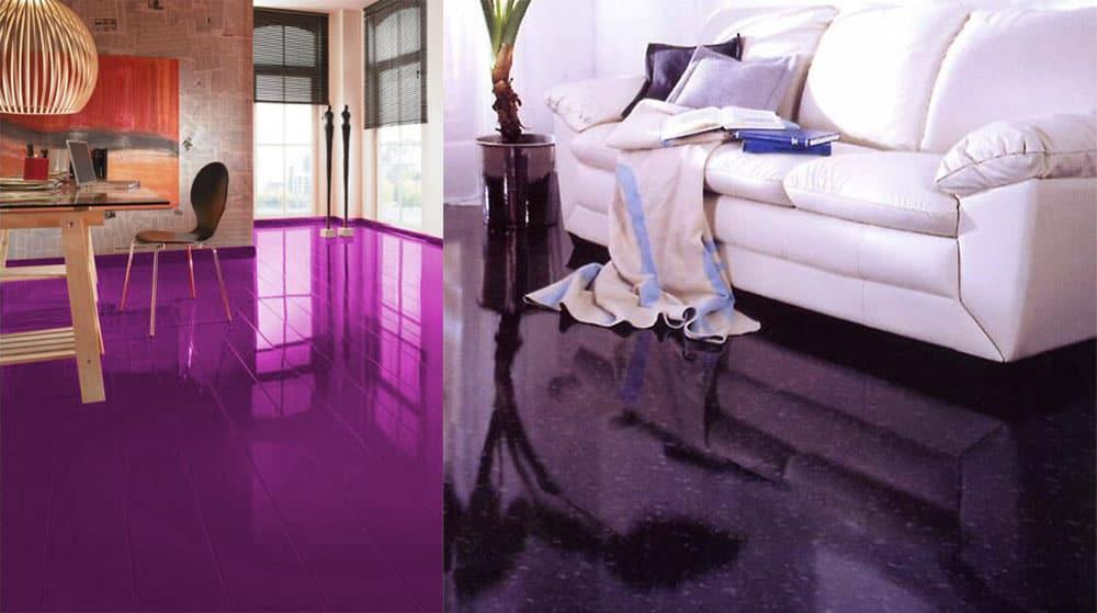Фиолетовый ламинат - самый модный цвет ламината Ламинат 2018