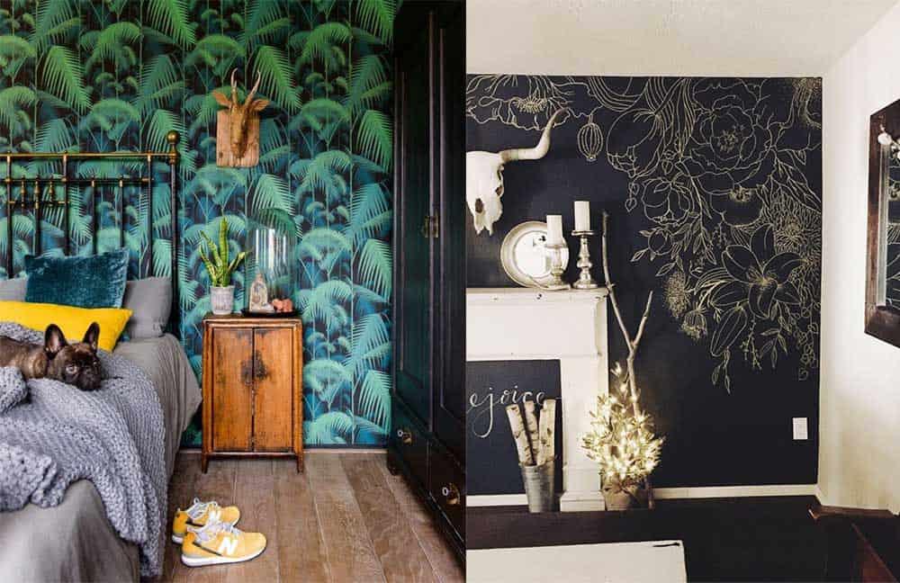 Флоральные обои обои с растительными узорами и рисунками разные варианты Дизайн обоев 2018