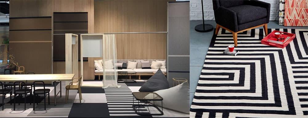 Черно-белые ковры - универсальное и стильное решение Ковры 2018