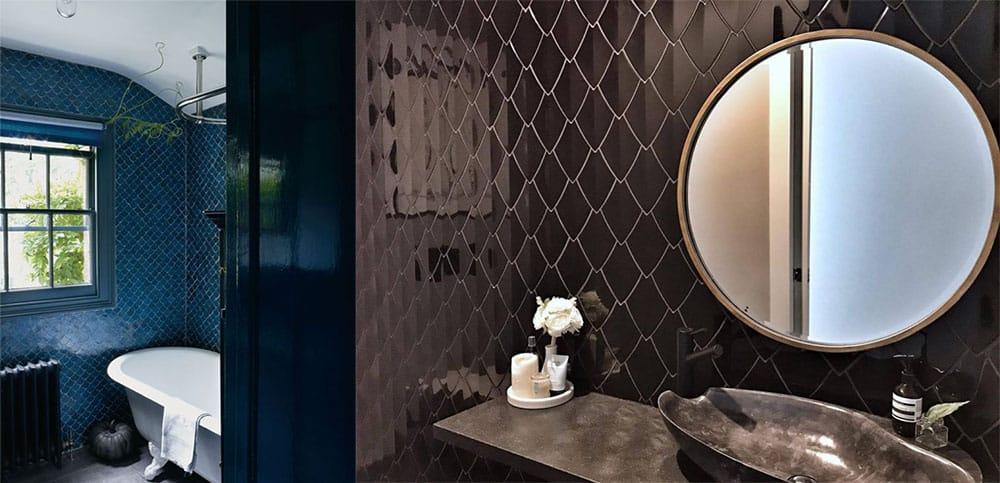Чешуйчатая плитка - красивый фэнтезийный тренд Плитка для ванной 2018