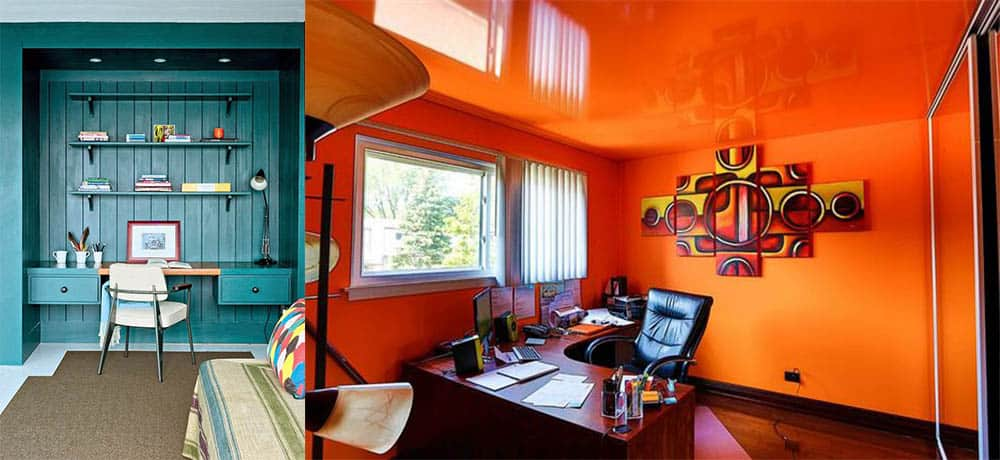 Яркий Кабинет 2018 использование ярких и смелых цветов в дизайне домашнего офиса