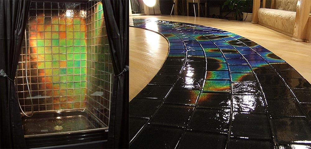 Moving color - плитка, изменяющая цвет в зависимости от температуры Плитка для ванной 2018