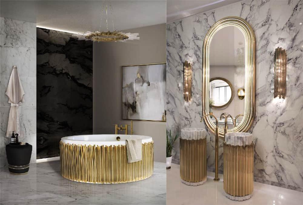 Symphony - музыка, воплощенная в латуни, коллекция для ванной с имитацией форм частей музыкальных инструментов Идеи ванной комнаты 2018