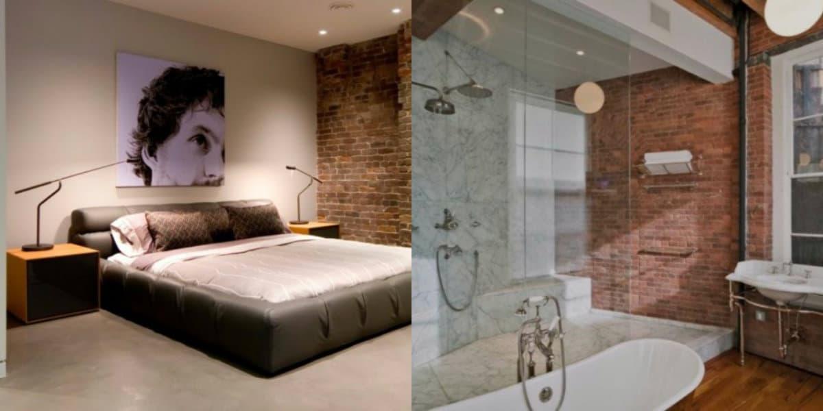 Стиль Лофт в интерьере : ванная