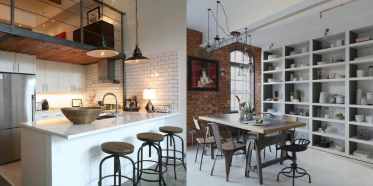 Стиль Лофт в интерьере : кухни в индустриальном стиле