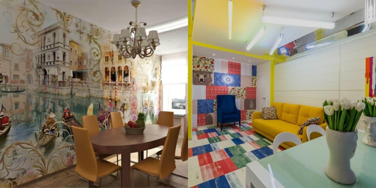 Интерьер квартиры 2018: яркие цвета