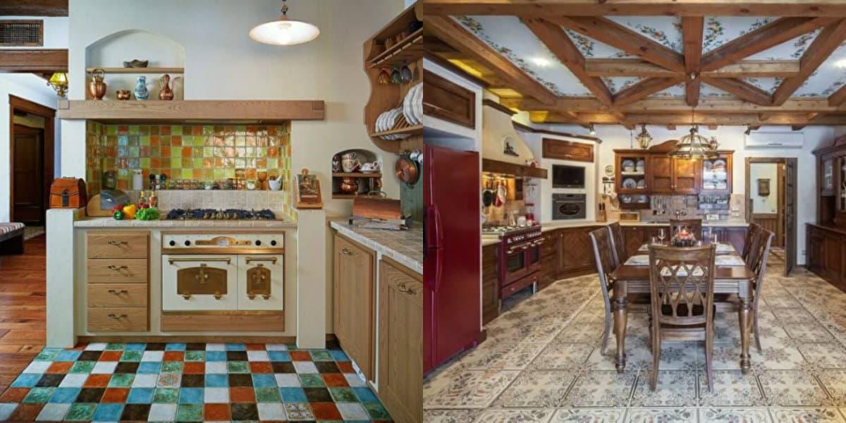 Кухня в стиле Кантри: европейский дереевнский шик