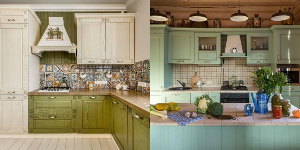 Кухня в стиле Кантри: винтажная мебель
